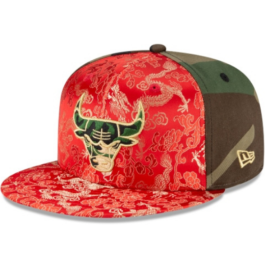New Era Chicago Bulls Dragon Satin 59Fifty Fitted Hat