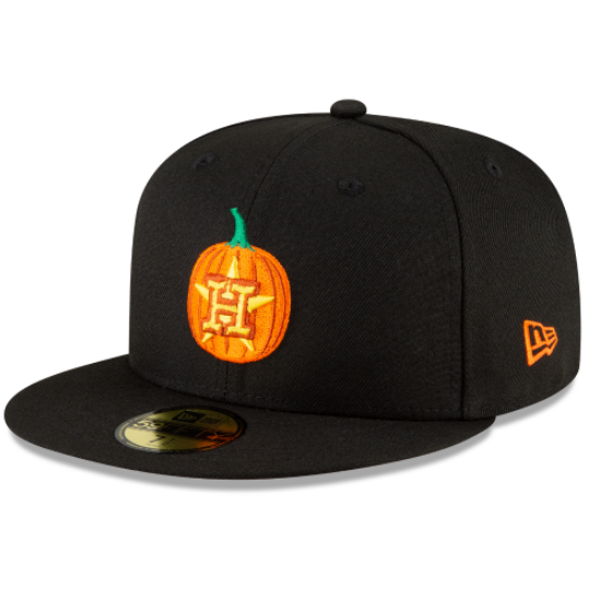 New Era Houston Astros Carved Pumpkins 2020 Fitted Hat
