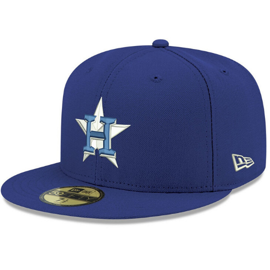 Blue Houston Astros Fitted Hat