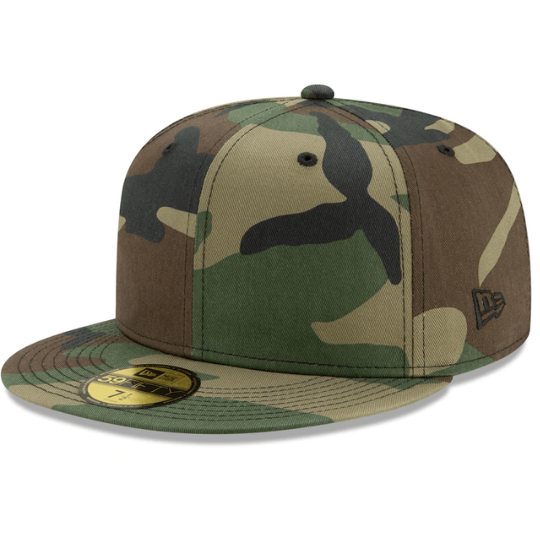 Blank Camo Fitted Hat