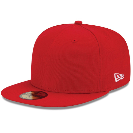Red Blank Fitted Hat