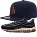 Navy Blue Dodgers Fitted Hat with Nike Air Max 97 Cork
