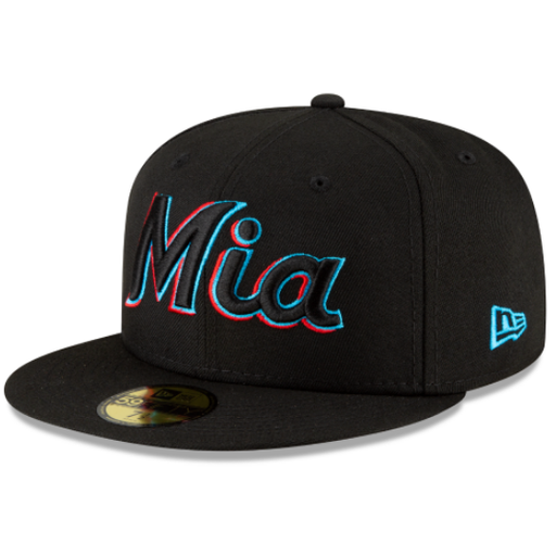 New Era Miami Marlins Ligature 59Fifty Fitted Hat