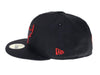 Black and Red Chicago Bulls 59Fifty Fitted Hat