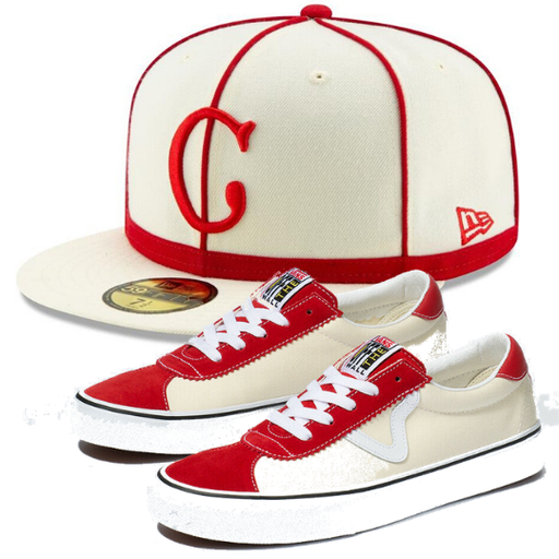 Cincinnati Reds 1902 fitted hat with matching shoes