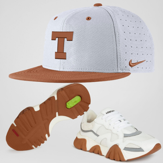 Nike NCAA Texas Longhorns Aerobill Fitted Hat W/ Versace Shoes