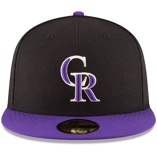 Colorado Rockies Black & Purple Fitted Hat