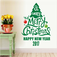 Merry Christmas Tree Decoration Decal Window Stickers Home Decor