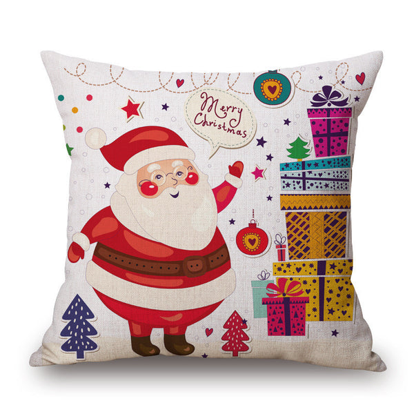 Christmas Linen Square Throw Flax Pillow Case Decorative Pillow Cover velvet pillow covers