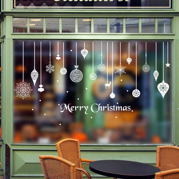 christmas decorations for home New Year wall stickers home decor Window Glass Door Decoration adesivo de parede