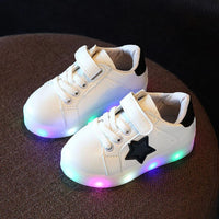 Children's casual shoes Baby Kids Sneakers Fashion Star LED Luminous Child Toddler Casual Light Shoes drop shipping shoes