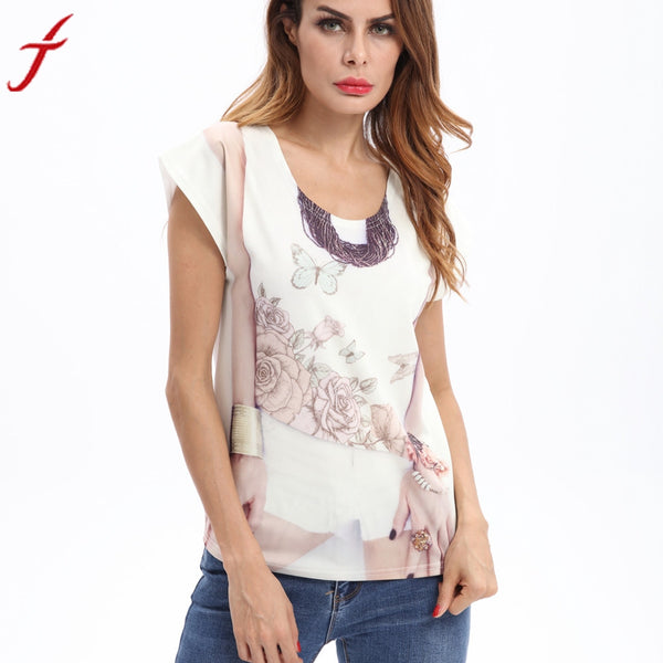 Fashion Spring Summer Women T Shirt Tops Flower Cute butterfly Print Shirt harajuku Women Ladies Funny t shirts