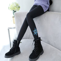 Big Size Pants for Girls Print Leggings Kids Cashmere Bottoms Winter Teenage Girls Thick Trousers Infants Children Warm Leggings
