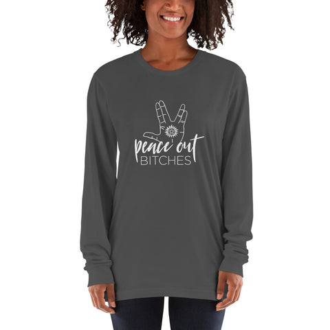"Charlie's ""Peace Out"" Long Sleeve Shirt"