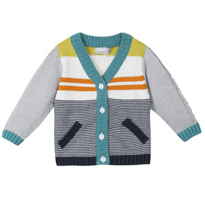 Cardigan Color Stripes