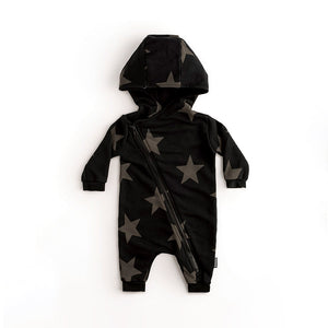Mameluco Asymmetrical Zip Star Hooded