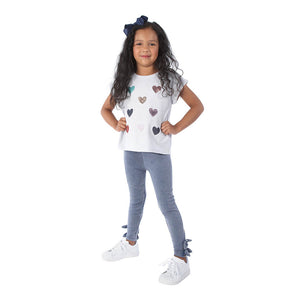 Playera Sequins Heart