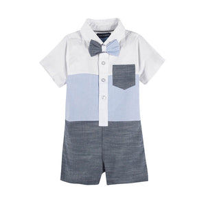Mameluco Blue Pocket