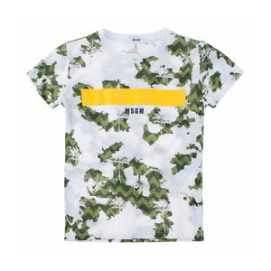 Playera White Palms Camo