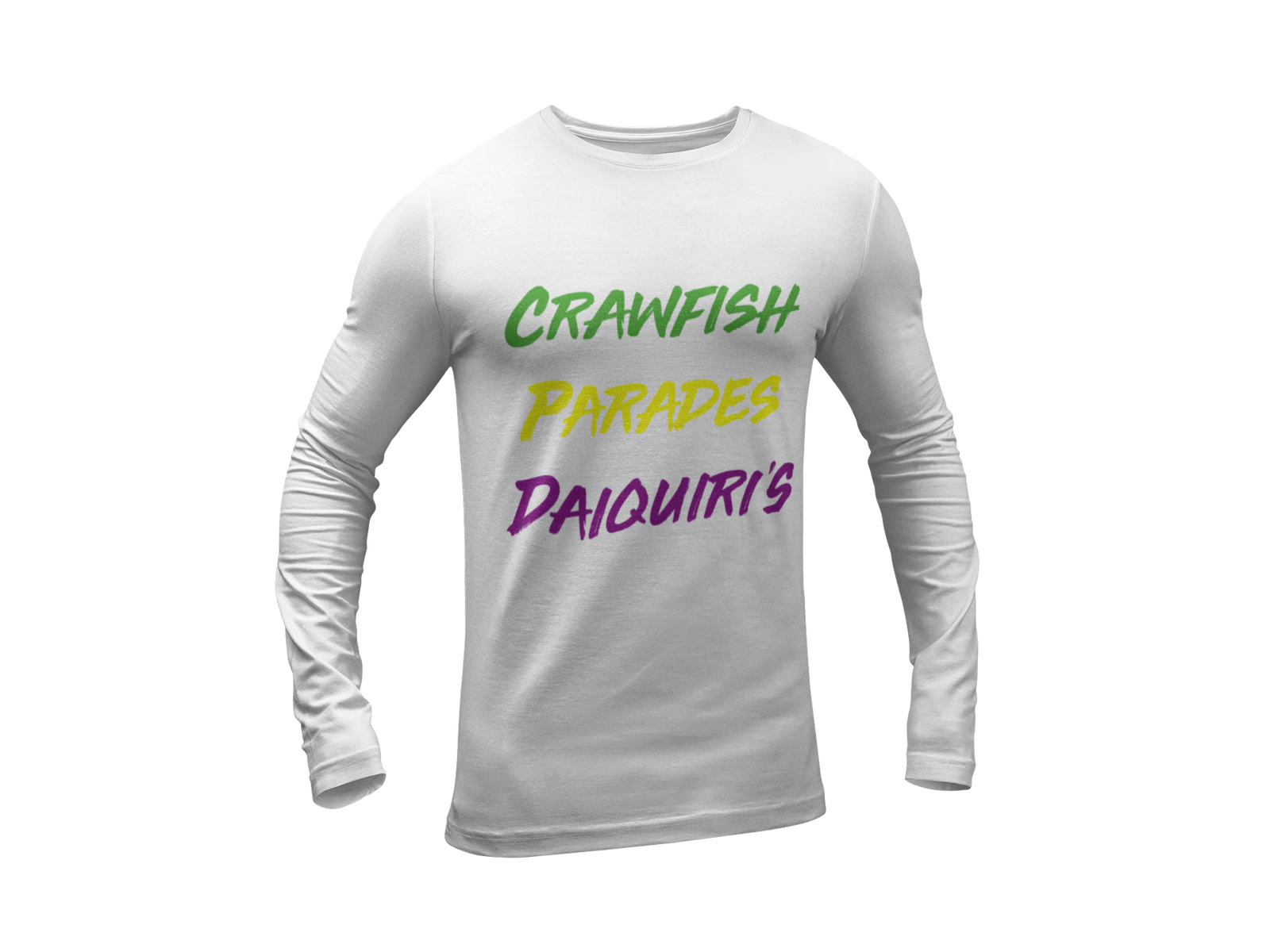 Load image into Gallery viewer, Mardi Gras  Crawfish Long Sleeve unisex Tee