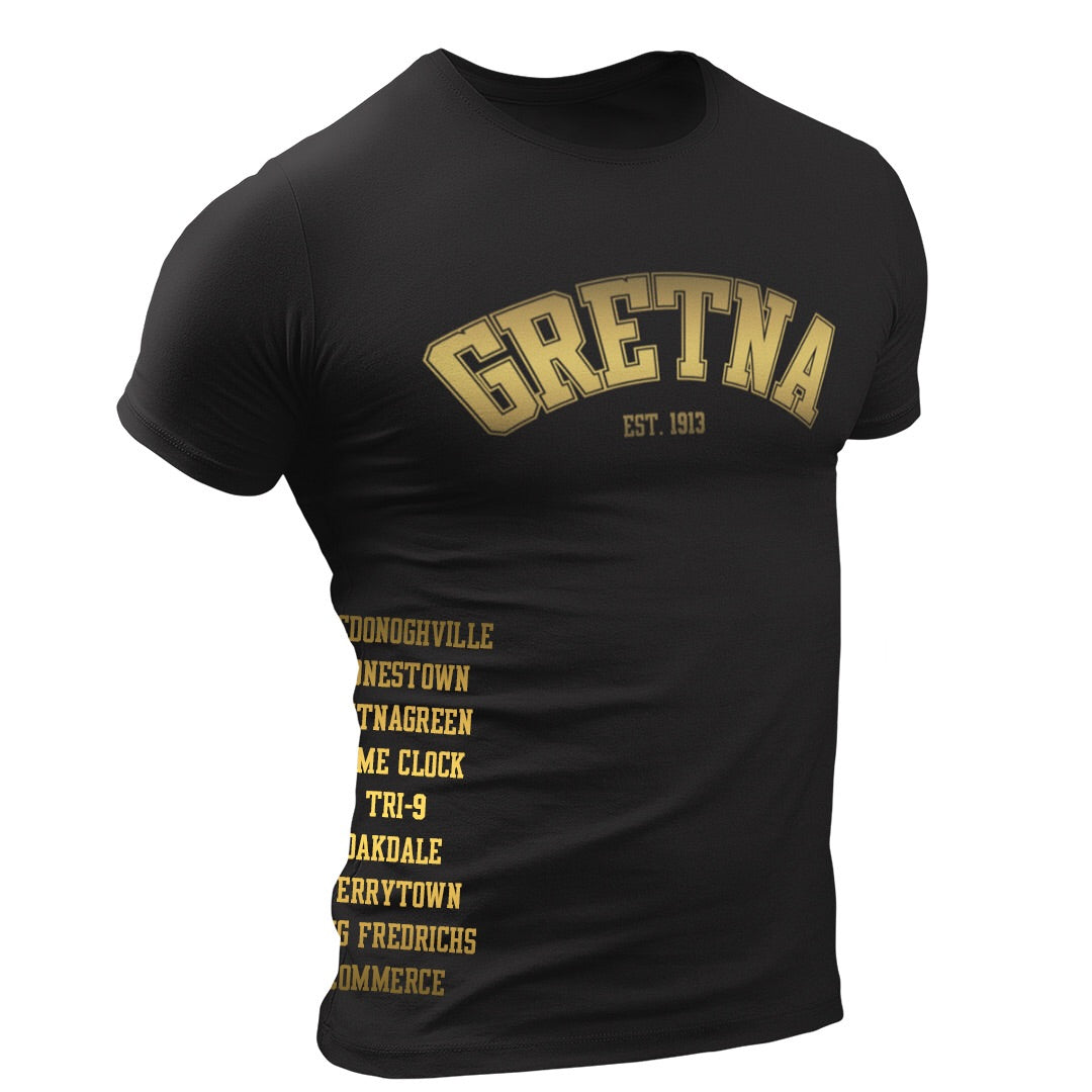 Load image into Gallery viewer, Hood Love Gretna Black & Gold Edition