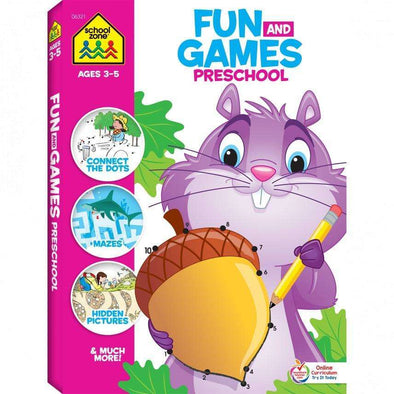 Fun & Games Preschool Activity Book