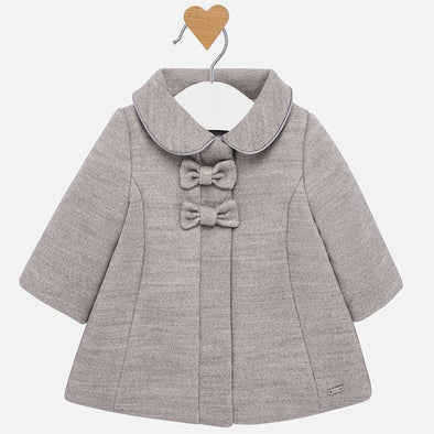 Girls Mouflon Double Bow Coat