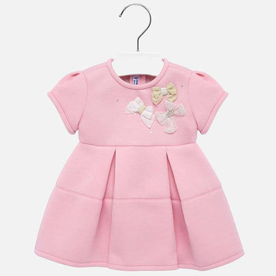Pink Bow Applique Dress