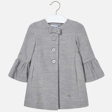 Flared Cuff Grey Girls Jacket