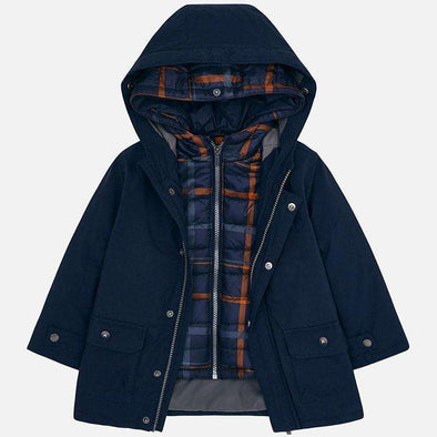 Navy Blue Boys Coat