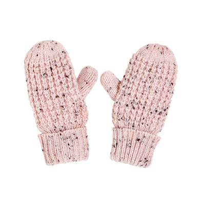 Pink Knit Mittens