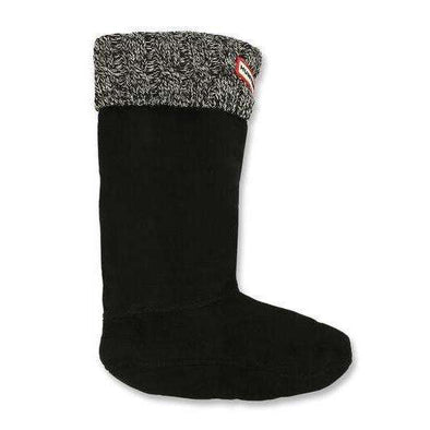 Original Kids Cable Knitted Cuff Boot Socks - Grey/Black