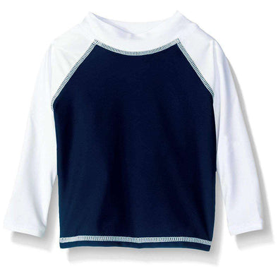 UPF 50+ Colorblock Rash Guard/Swim Top - Nautical