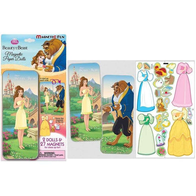 Disney Beauty & The Beast: Magnetic Paper Dolls in Travel Tin