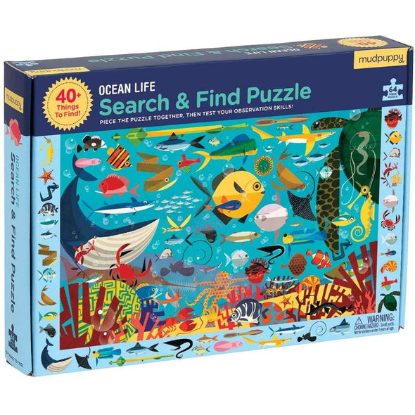 Ocean Life: Search & Find Puzzle