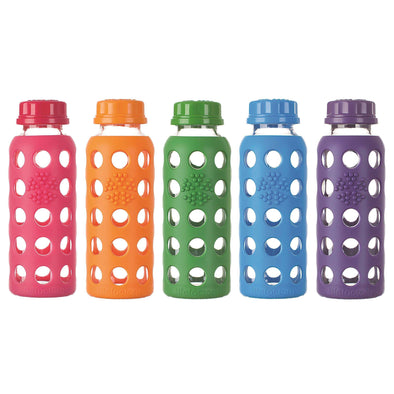 9 oz Glass Water Bottles with Silicone Sleeves