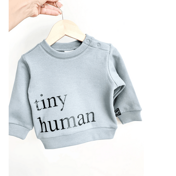 Tiny Human Fleece Sweater - Seafoam