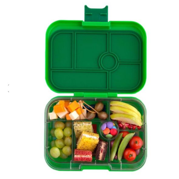 Yumbox Original 6-compartment food tray (illustrated) - Avocado Green
