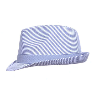 UPF 50+ Fedora Hat - Chambray Stripe