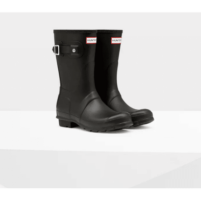 Women's Black Original Short Rain Boots Hunter