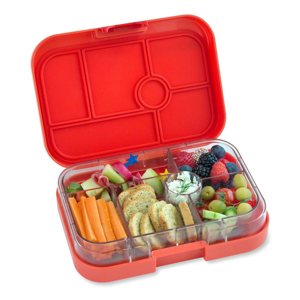 Yumbox Original 6-compartment food tray (illustrated) - Safari Orange