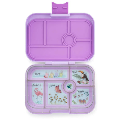 Yumbox Original 6-compartment food tray (illustrated) - Lila Purple