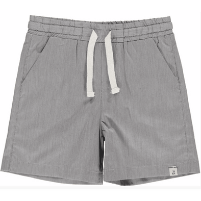 Grey Micro Striped Swim Shorts
