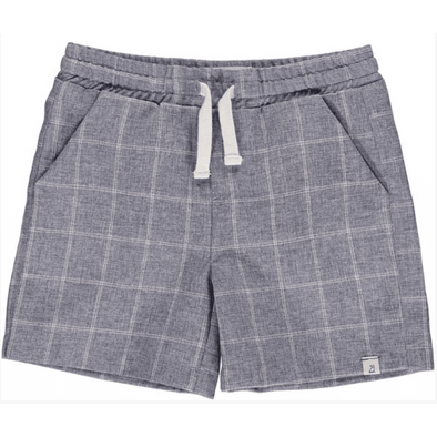 Navy Grid Swim Shorts