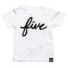 Brush Script Numbered T-shirts