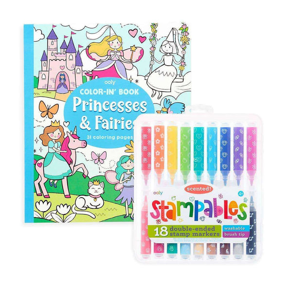 Princess & Fairies Stampables Colouring Pack