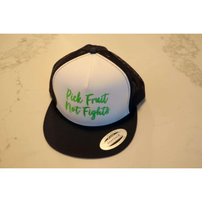 Adult Pick Fruit Not Fights Hat - Navy Snap Back