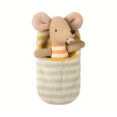 Baby Mouse in Sleeping Bag