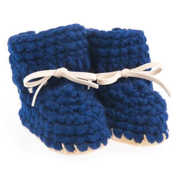 Blue Sweater Moccs