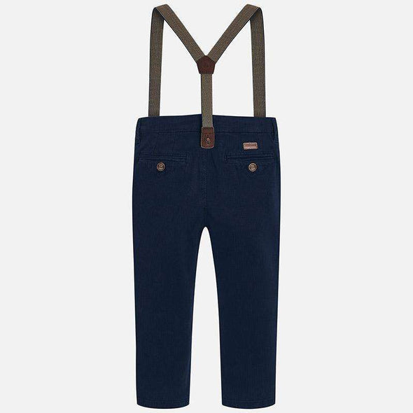 Chino Pants with Removable Suspenders